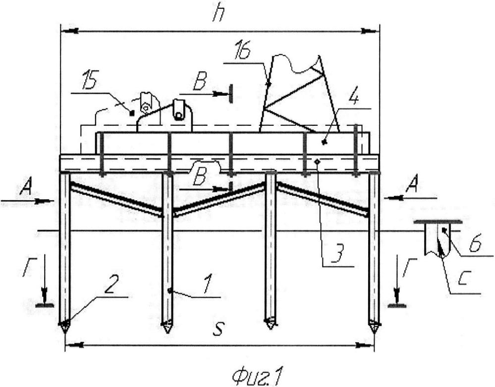 Металлический свайный фундамент для станка-качалки скважинной установки