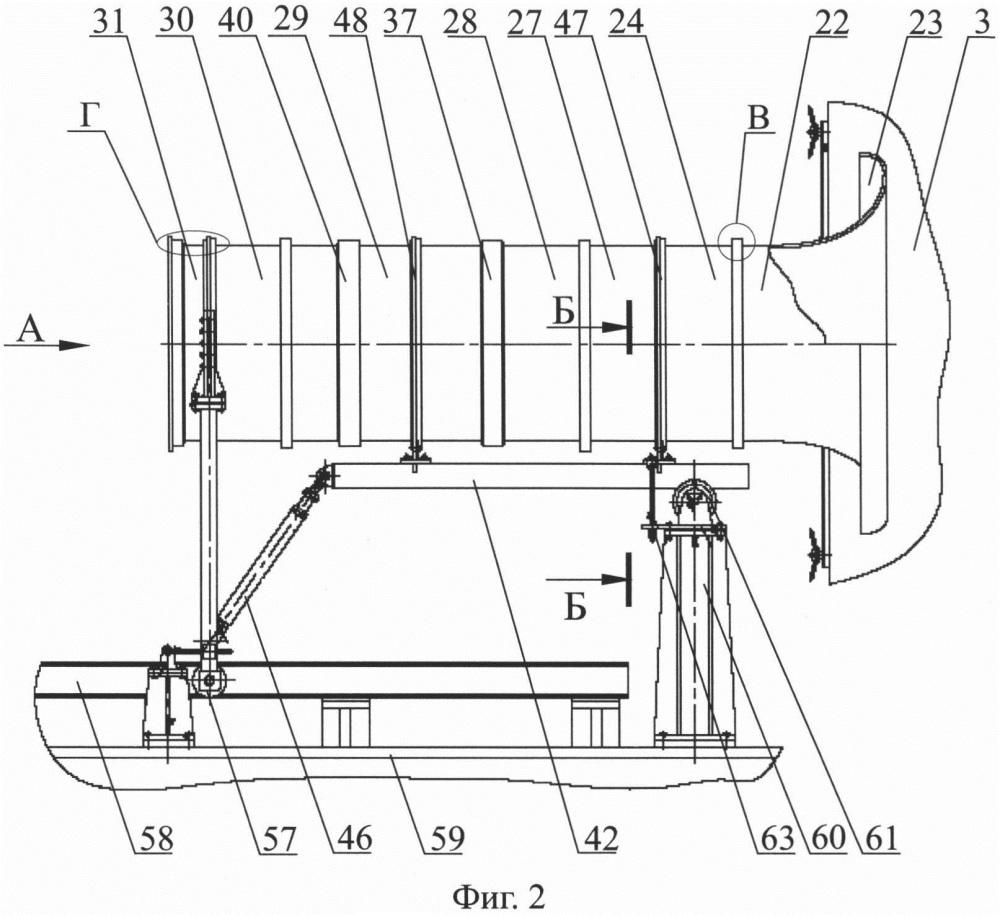 Газоперекачивающий агрегат (гпа), газотурбинная установка (гту), входное устройство гту гпа (варианты), опорный комплекс входного устройства гту гпа