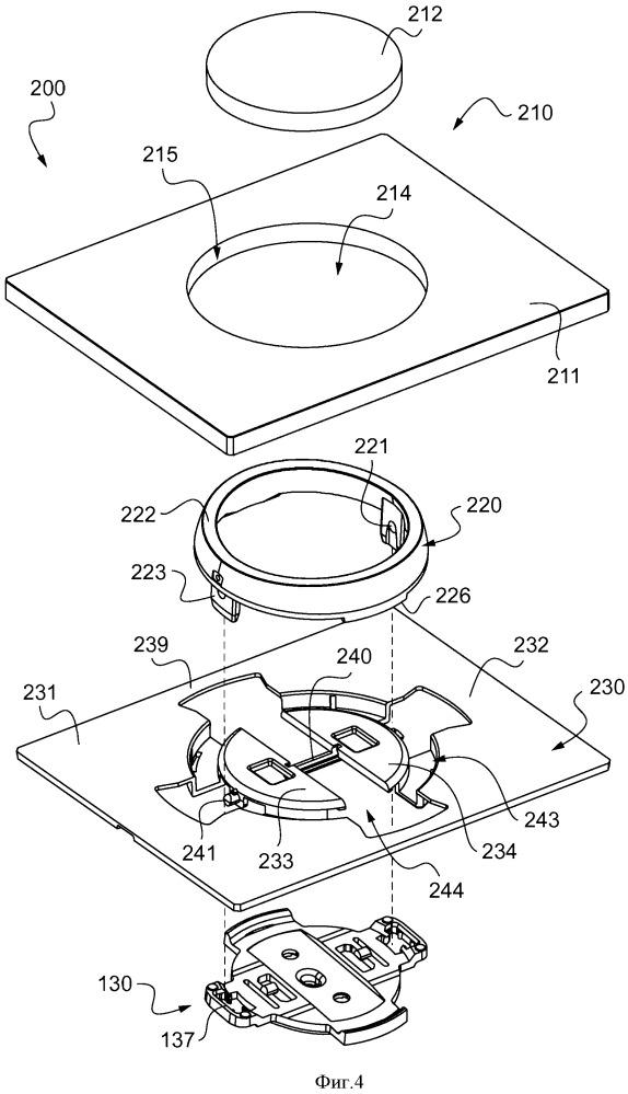 Отделочный узел для электрического выключателя и способ его сборки
