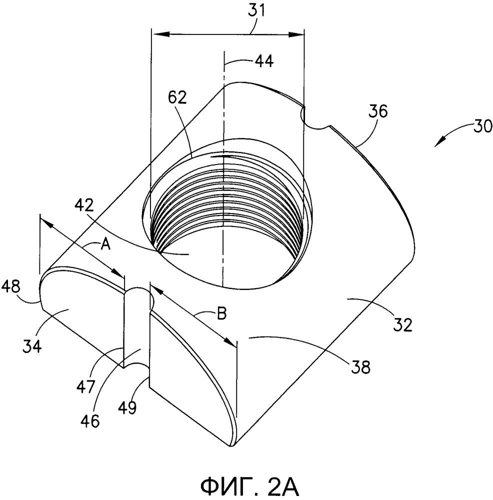 Цилиндрическая гайка с деталями конструкции, способствующими уменьшению механического напряжения