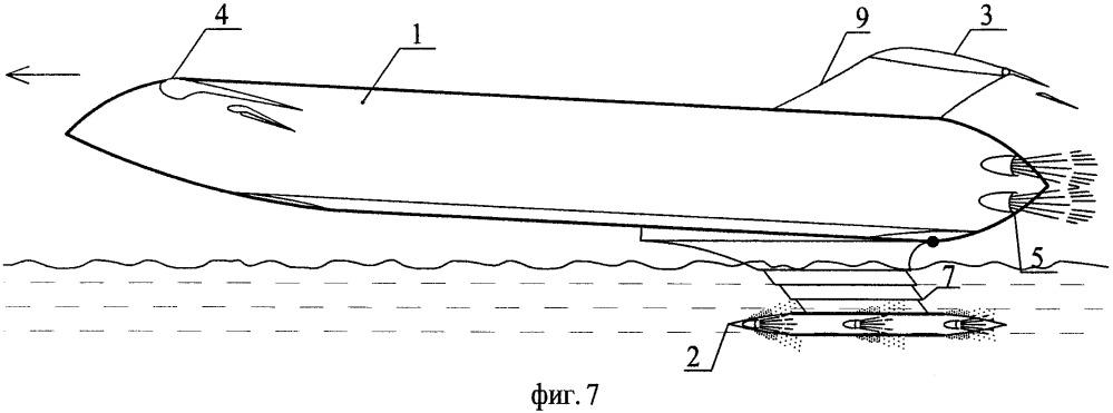 Высокоскоростное судно-экраноплан (варианты)