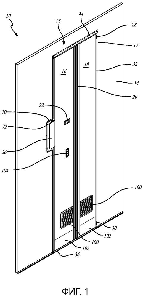 Блок складной двери