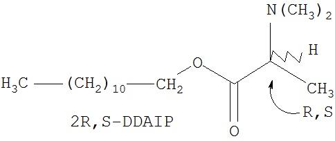Активный энантиомер додецил 2-(n,n-диметиламино)-пропионата