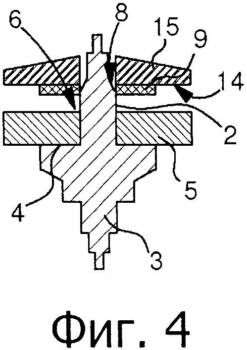 Сборочный узел, использующий плоский, упругий фиксирующий элемент