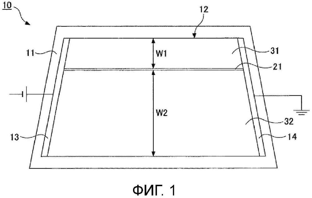 Пластина для электротермического окна