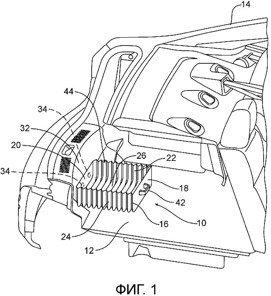 Съемный и раздвижной модуль хранения для моторного транспортного средства