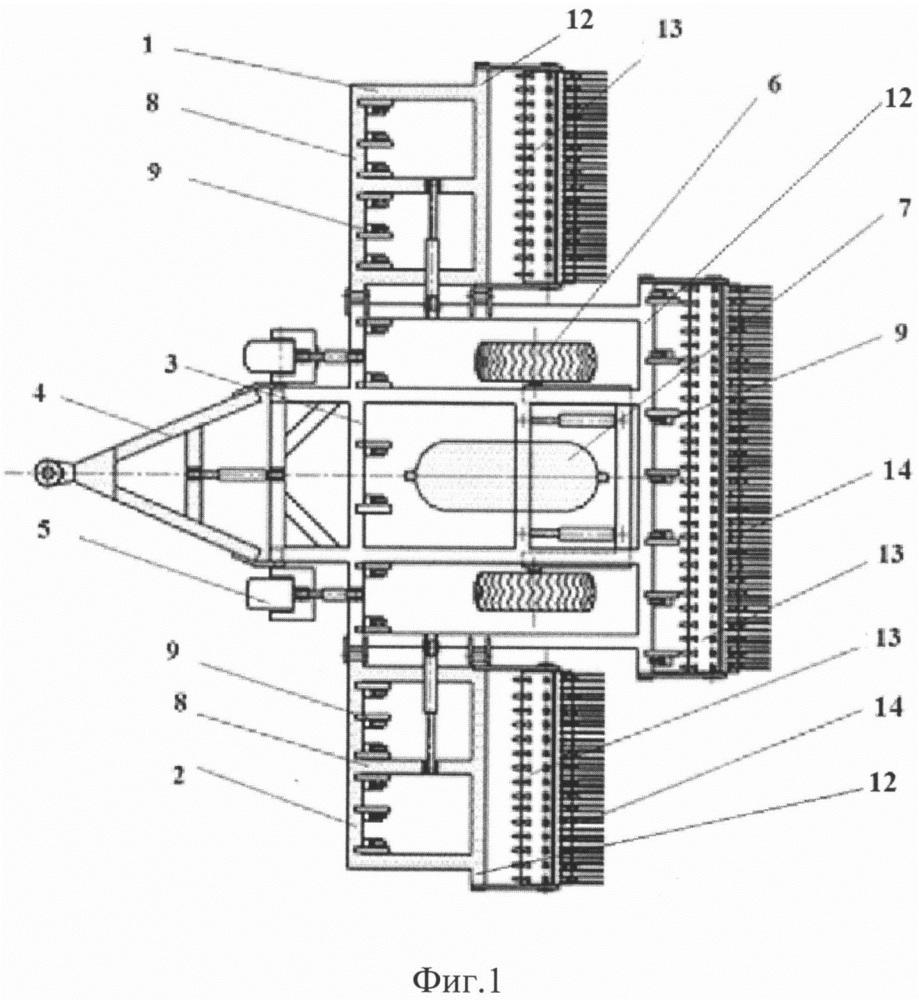 Агрегат для обработки почвы пульсирующим сжатым воздухом