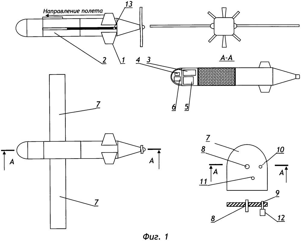 Беспилотный ударный комплекс с изменяемой стреловидностью крыла
