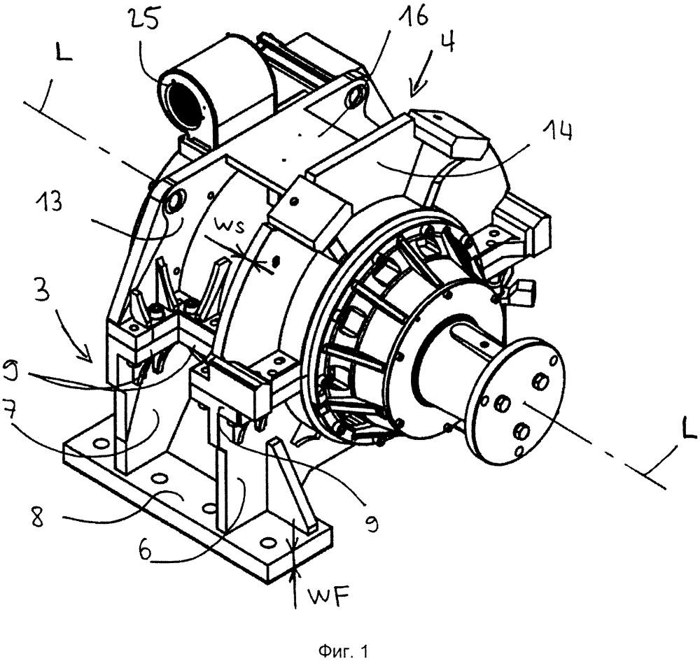 Подъемник с трубчатым двигателем и раздельным креплением двигателя