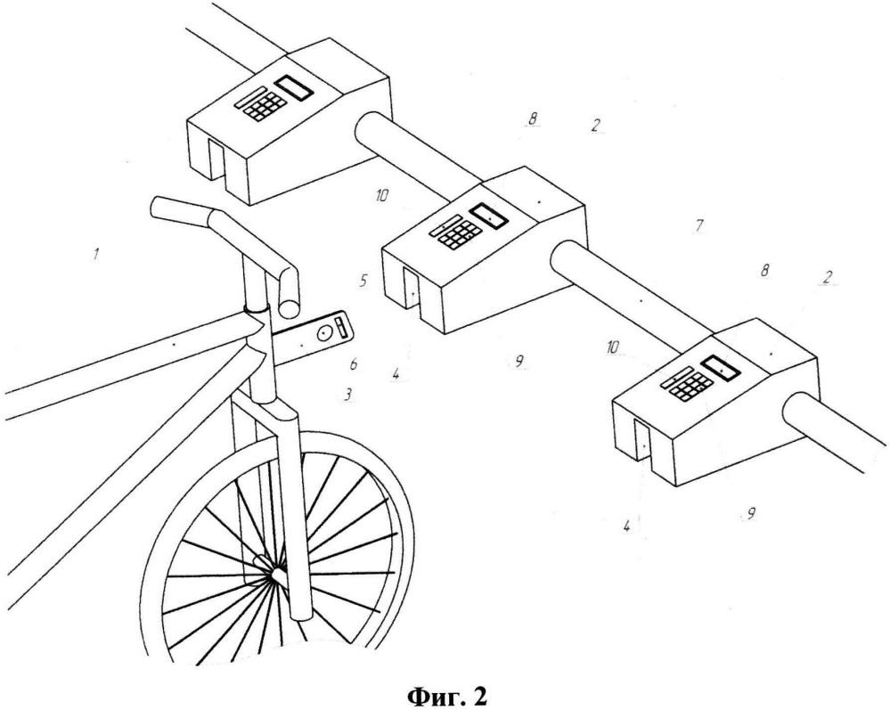Стойка велопроката и система велопроката