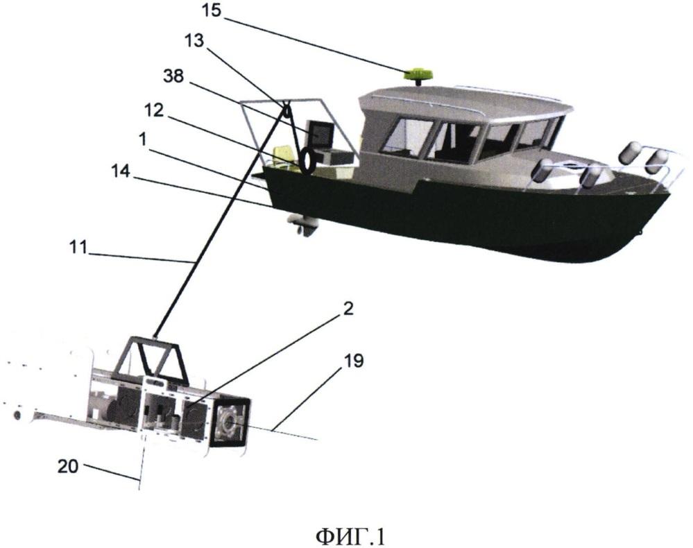 Буксируемое устройство для картографирования объектов морского дна и их визуальной заверки