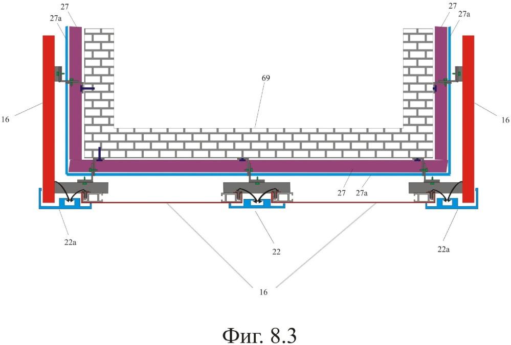 Навесная вентилируемая фасадная натяжная система и способ ее монтажа