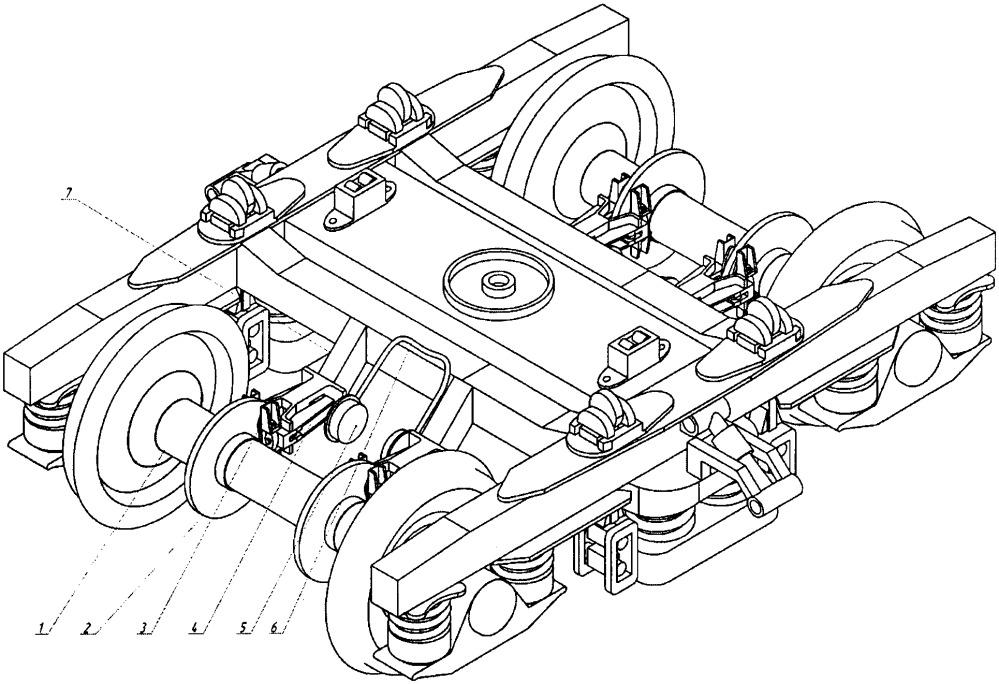Тормозная система тележки грузового вагона