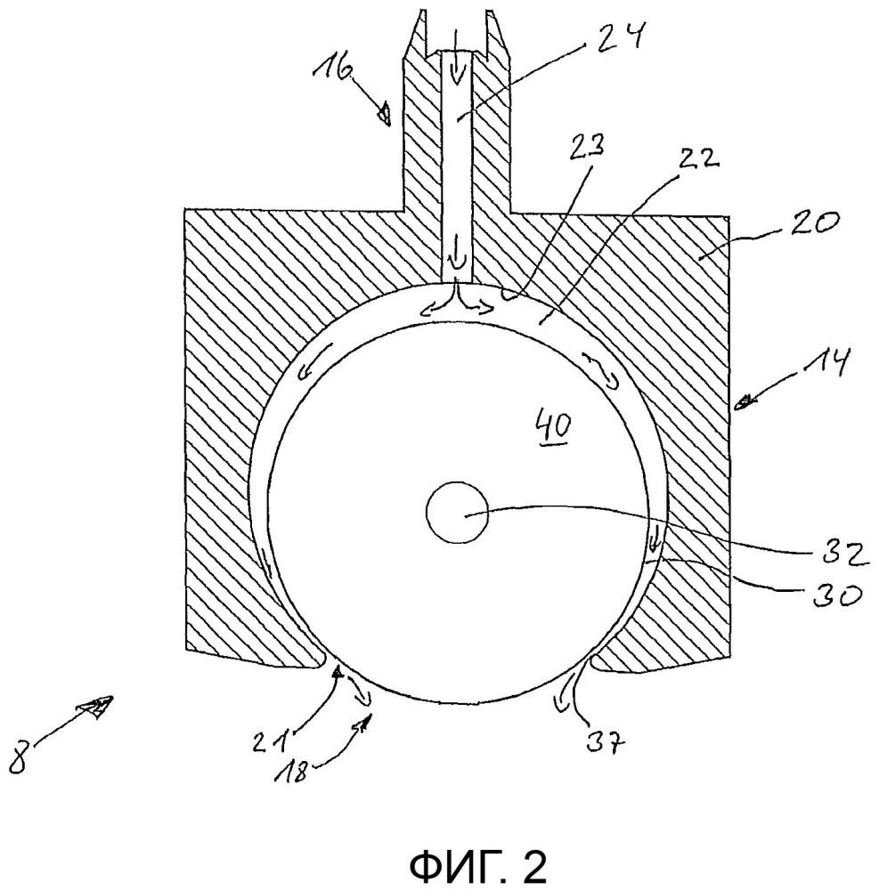 Устройство для нанесения жидкой среды, подвергаемой ультрафиолетовому облучению, на подложку