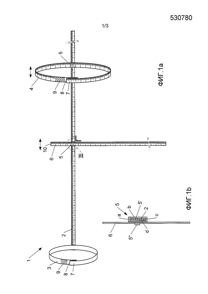 Устройство для измерения окружности объекта, в частности конечности