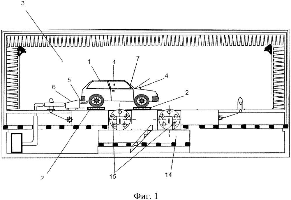 Стенд для акустических испытаний усилителя рулевого управления в составе транспортного средства