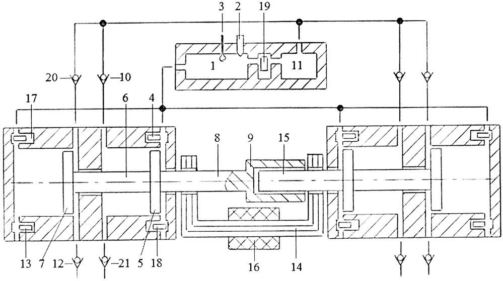 Способ управления коэффициентом избытка воздуха во внешней камере сгорания свободнопоршневого энергомодуля с внешней камерой сгорания