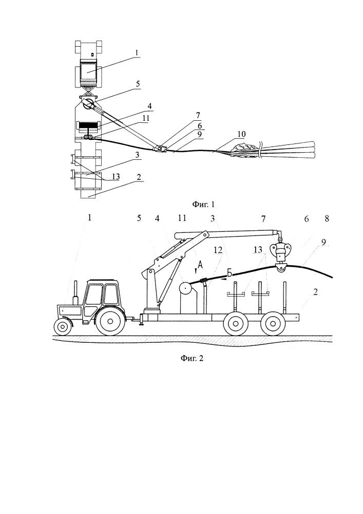 Машина для комбинированной трелевки лесоматериалов