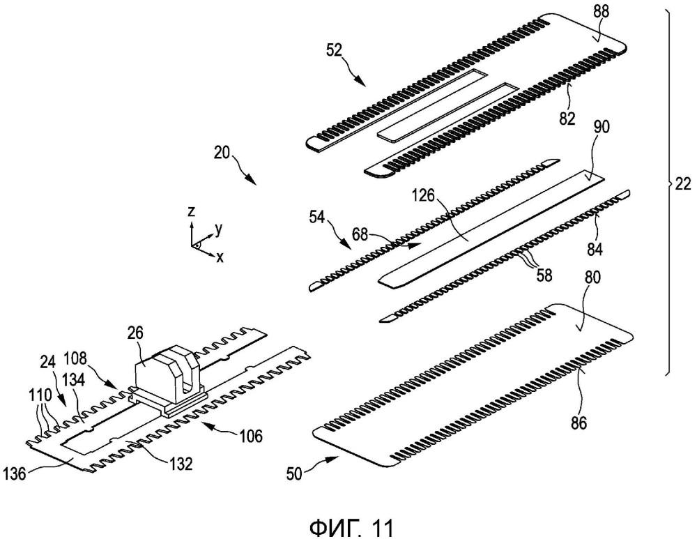 Ножевой узел, устройство срезания волос и соответствующий способ изготовления