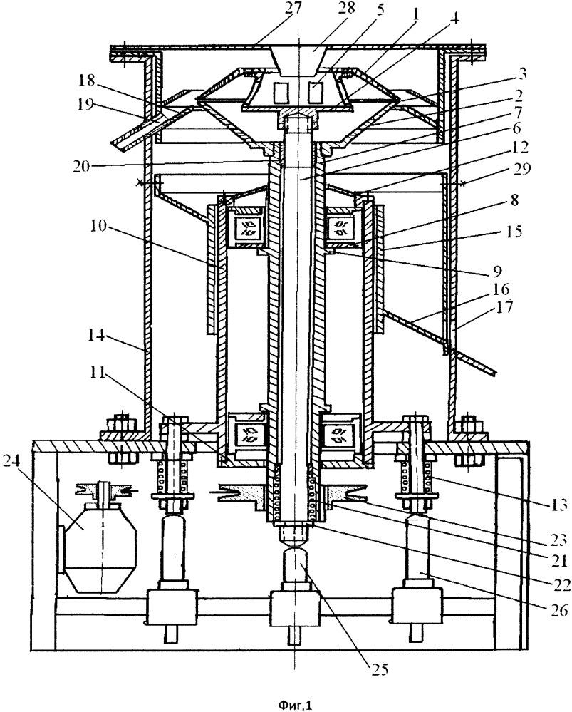 Центробежный аппарат фильтрации плотных суспензий отходов галлия