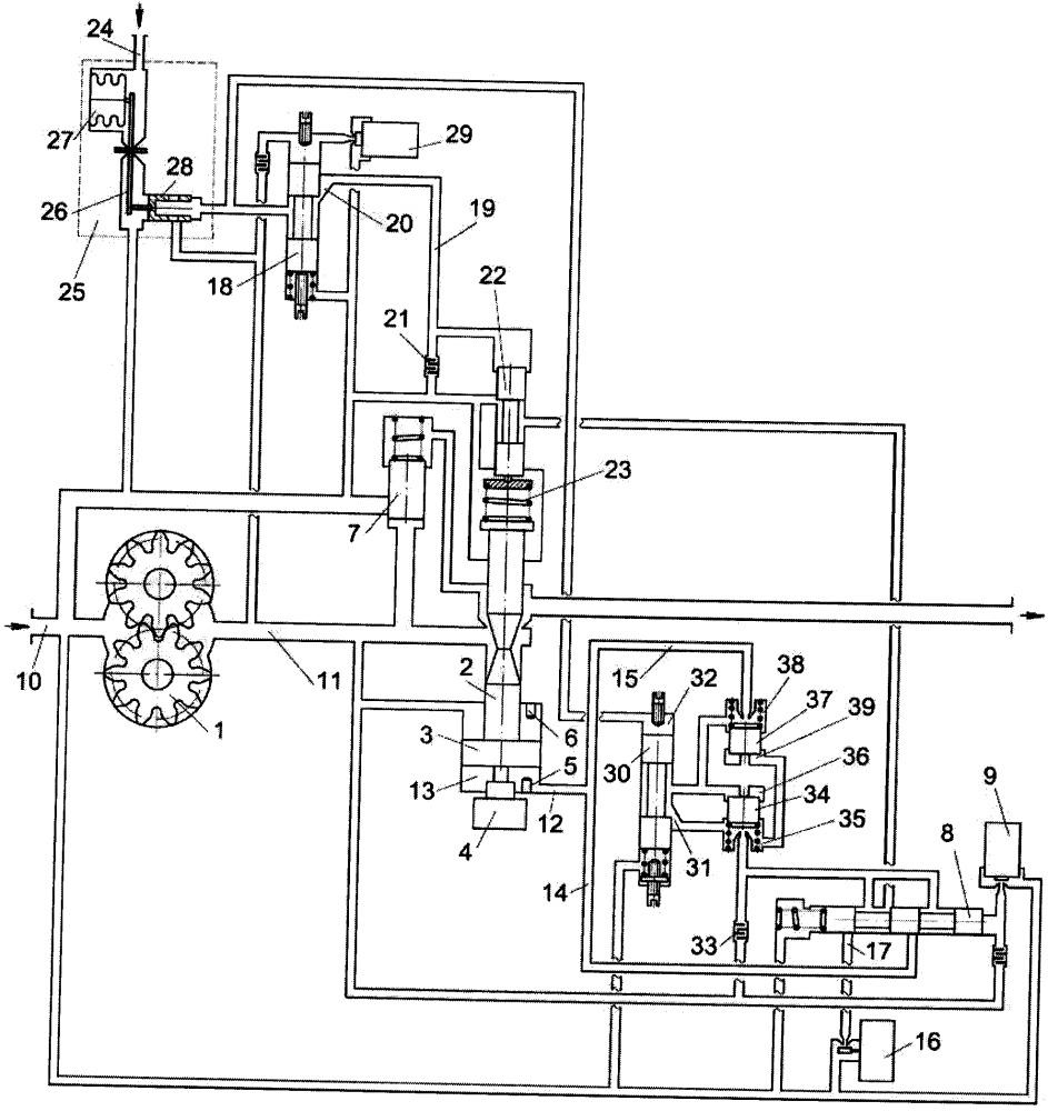 Двухканальная система топливопитания и регулирования газотурбинного двигателя (гтд)