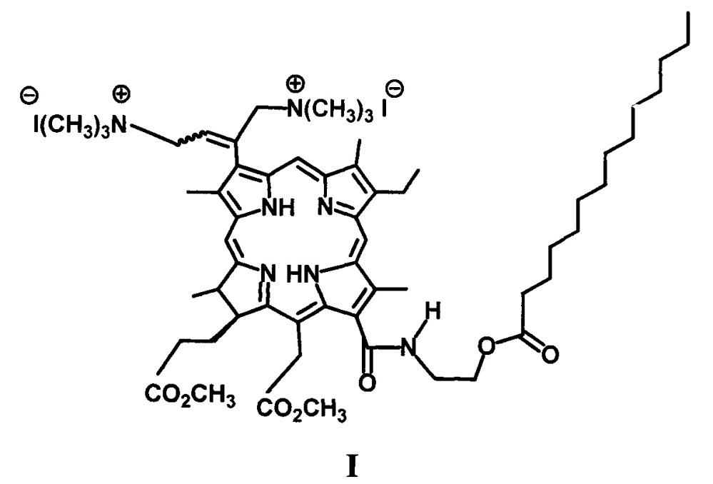 Водорастворимое производное хлорофилла α, модифицированное фрагментом миристиновой кислоты
