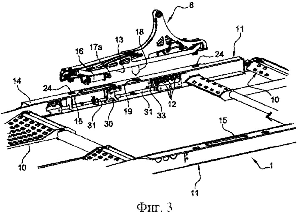 Запирающий узел для запирания и отпирания поддона на опорной конструкции