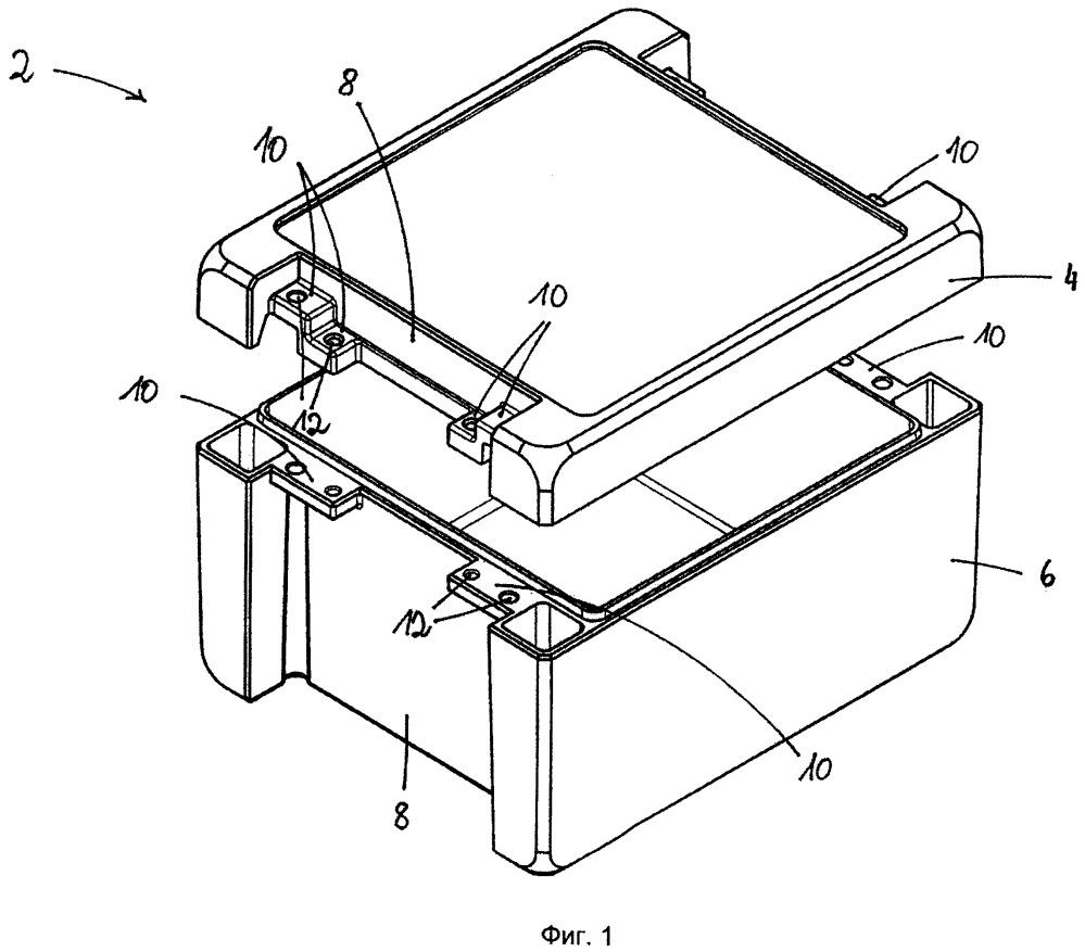 Ящик с нижней частью и верхней частью