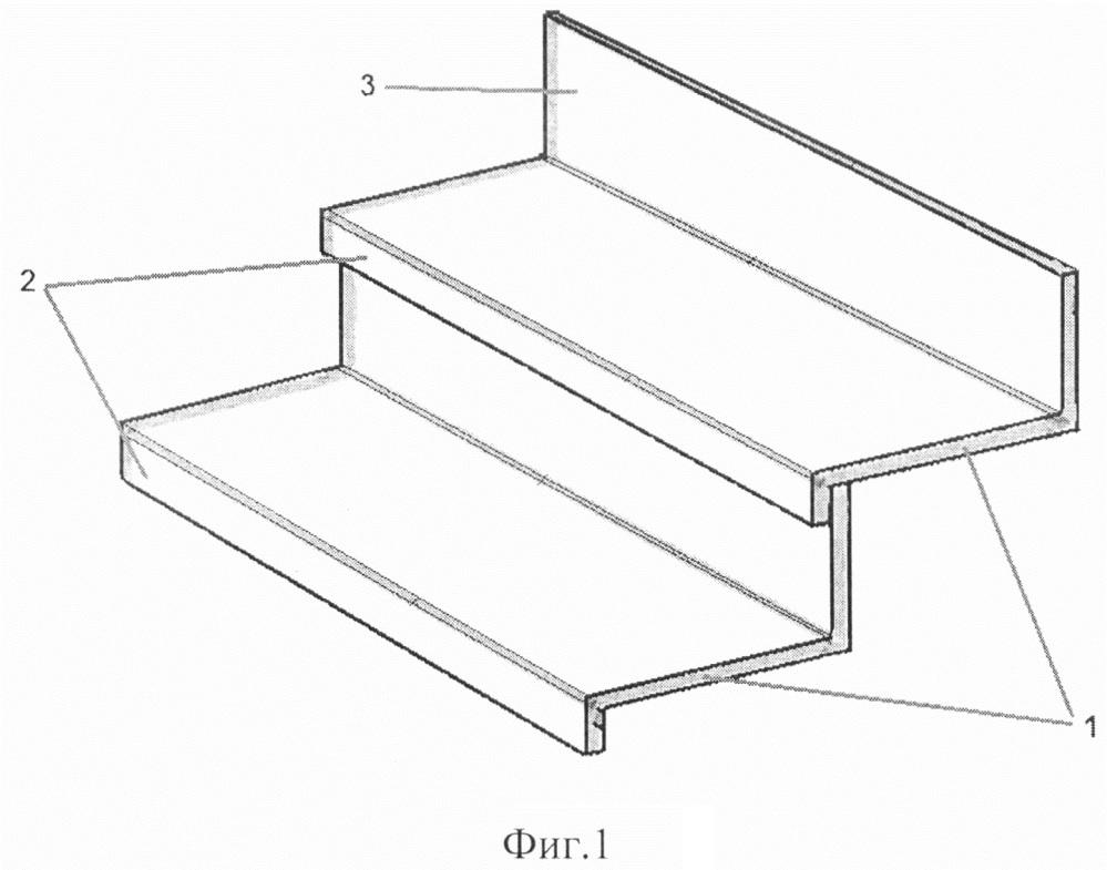 Облицовочный бетонный элемент ступени лестницы