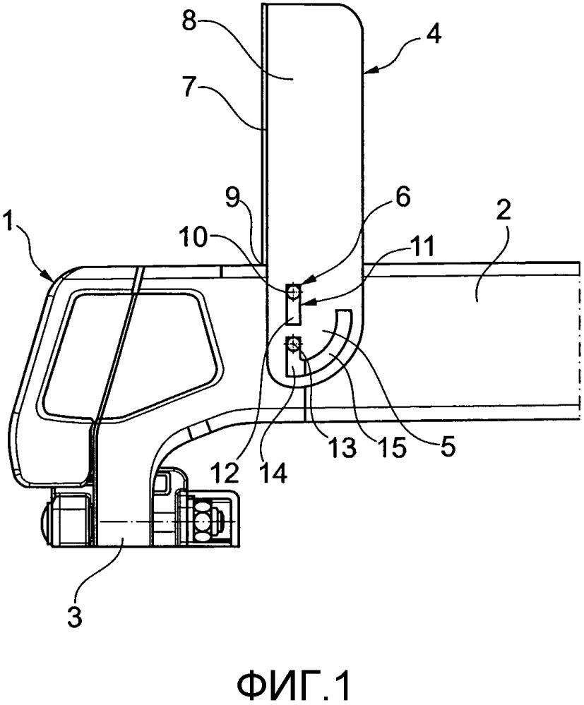 Грузонесущий элемент для безрельсовых транспортных средств, в частности в форме багажника на крыше