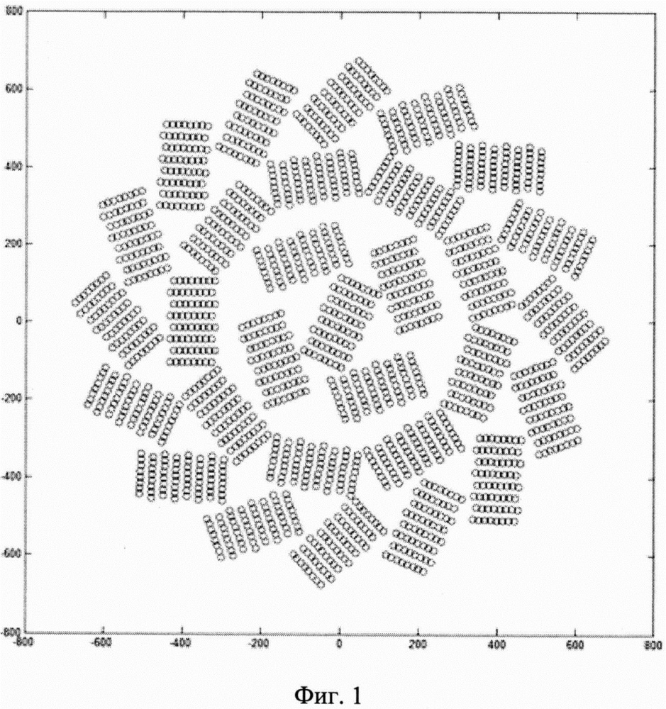 Кольцевая концентрическая модульная антенная решетка