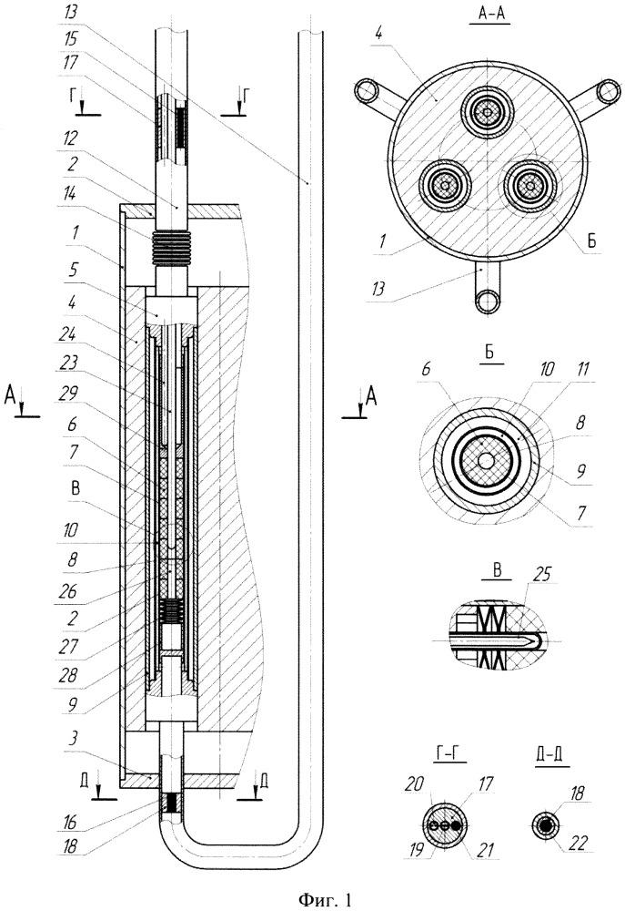 Ампульное устройство для реакторных исследований