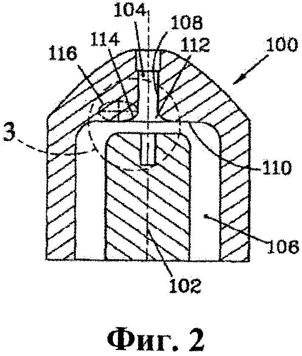 Сопло дуговой плазменной горелки с профилем соплового отверстия переменной кривизны на входе