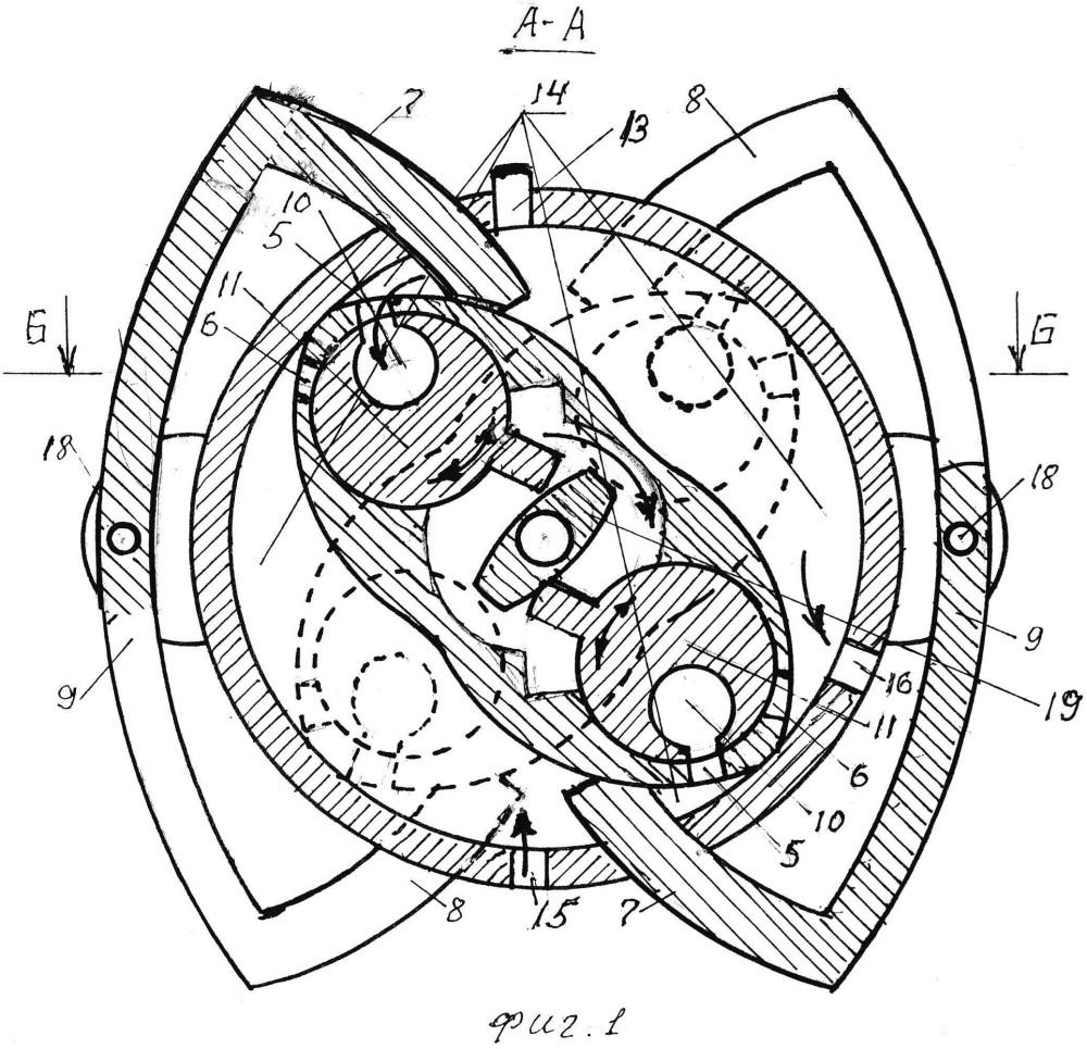 Двухсекционный роторный двигатель внутреннего сгорания
