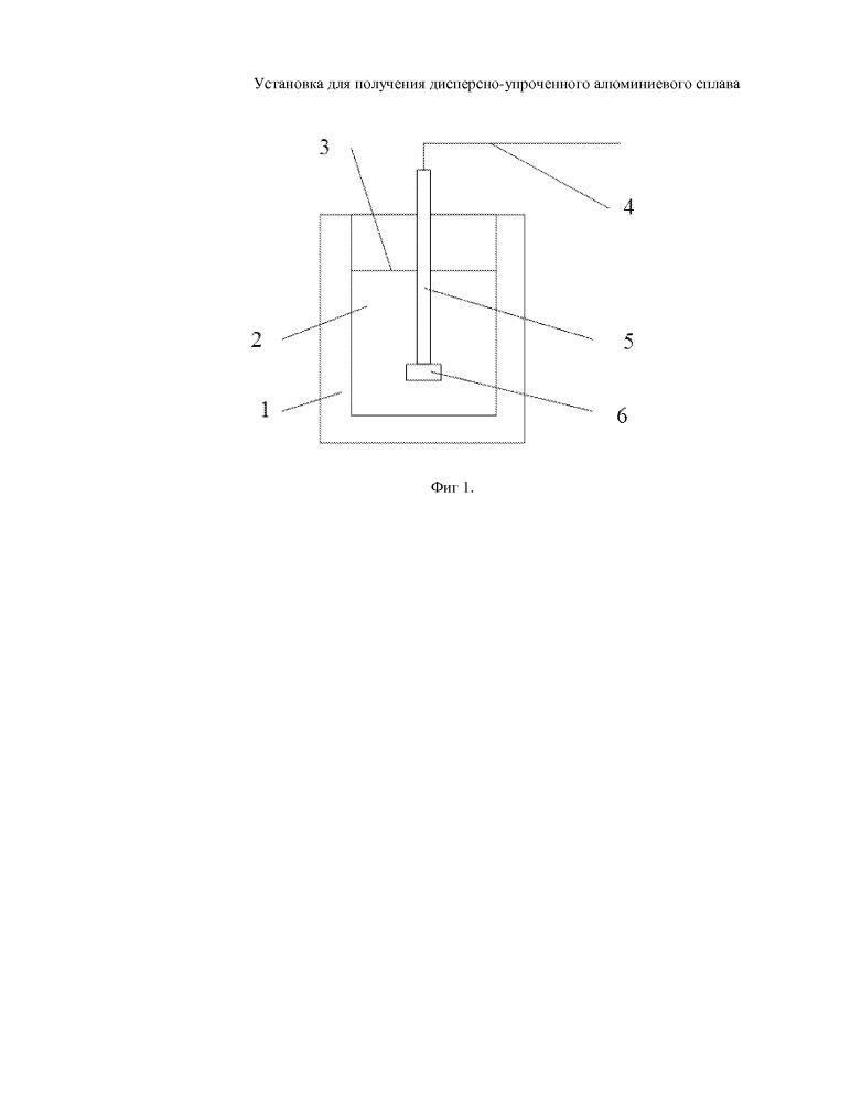 Установка для получения дисперсно-упроченного алюминиевого сплава