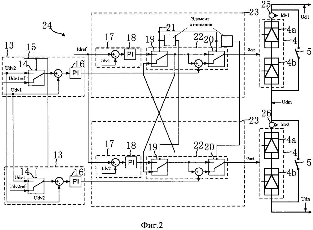 Устройство управления последовательными клапанами для передачи мощности постоянного тока высокого напряжения