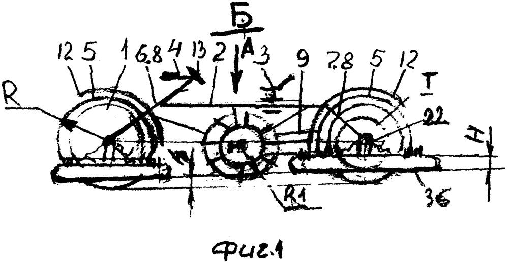 Устройство для передвижения по грунтовой, земляной, асфальтовой, снежной, ледяной и водной поверхности