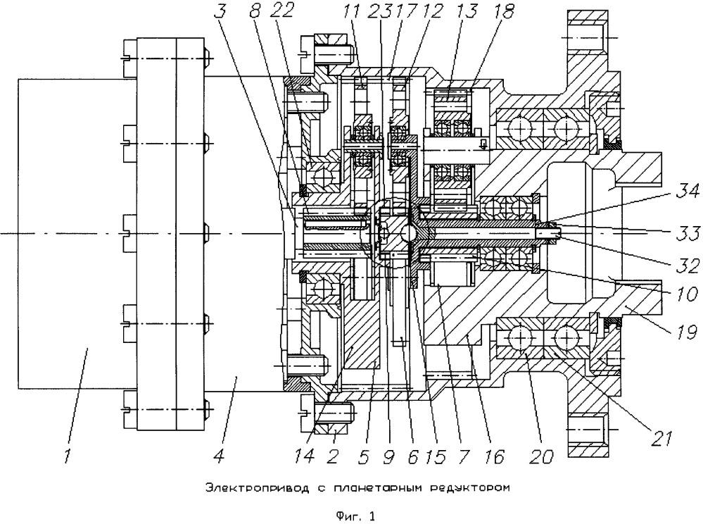 Электропривод с планетарным редуктором для механических систем космических аппаратов