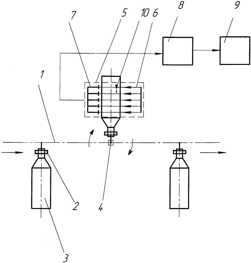 Способ контроля посторонних включений в стеклянных бутылках с жидкостью и устройство для его осуществления