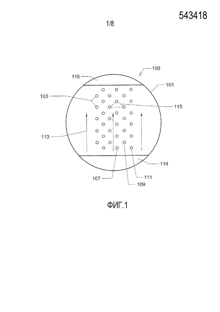 Компоновка отверстий для парожидкостной контактной тарелки