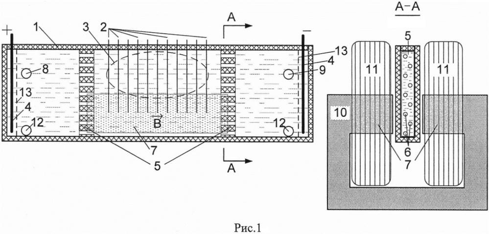 Устройство для очистки расплавленного металла и электролитов от примесей