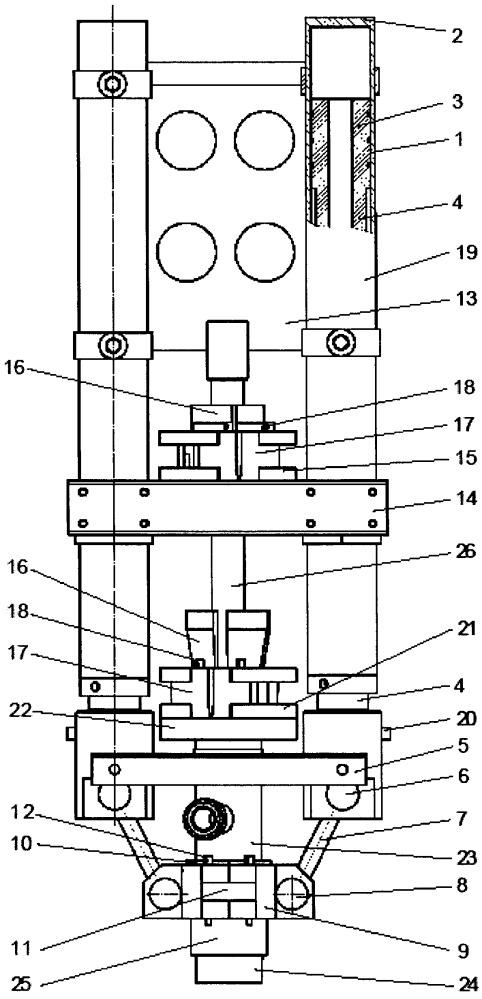 Устьевой скважинный гидравлический домкрат
