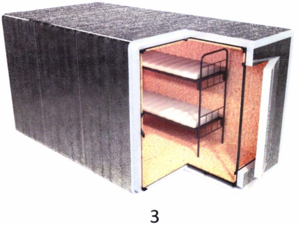 Модуль из теплоизоляционного полотна для утепления мобильной техники многофункционального и специального назначения