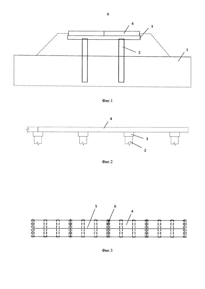 Устройство для земляного полотна высокоскоростных магистралей на участках с развитием карстово-суффозионных процессов