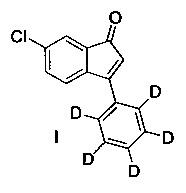 6-хлор-3-(фенил-d5)-инден-1-он и его применение