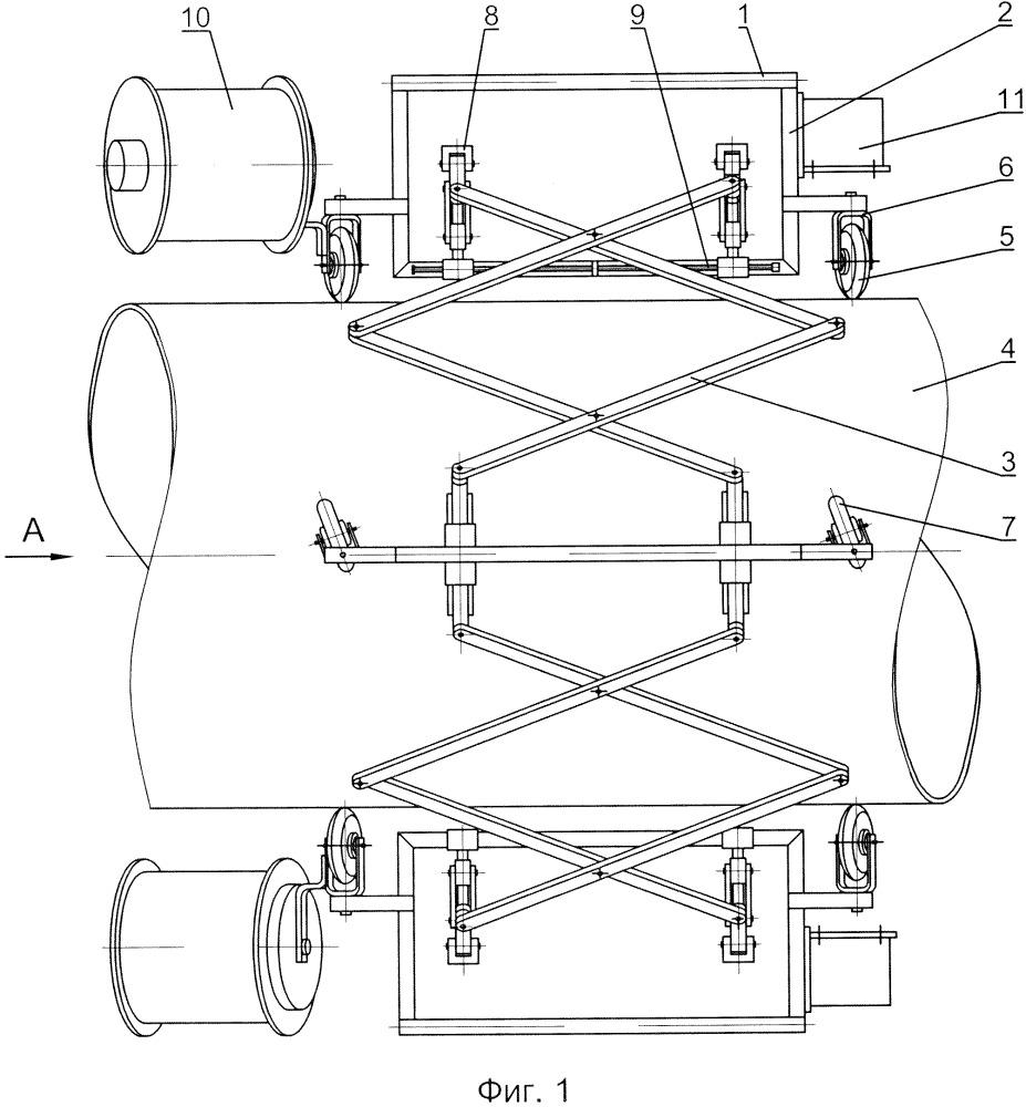 Устройство для нанесения ленточного изолирующего материала на трубопровод