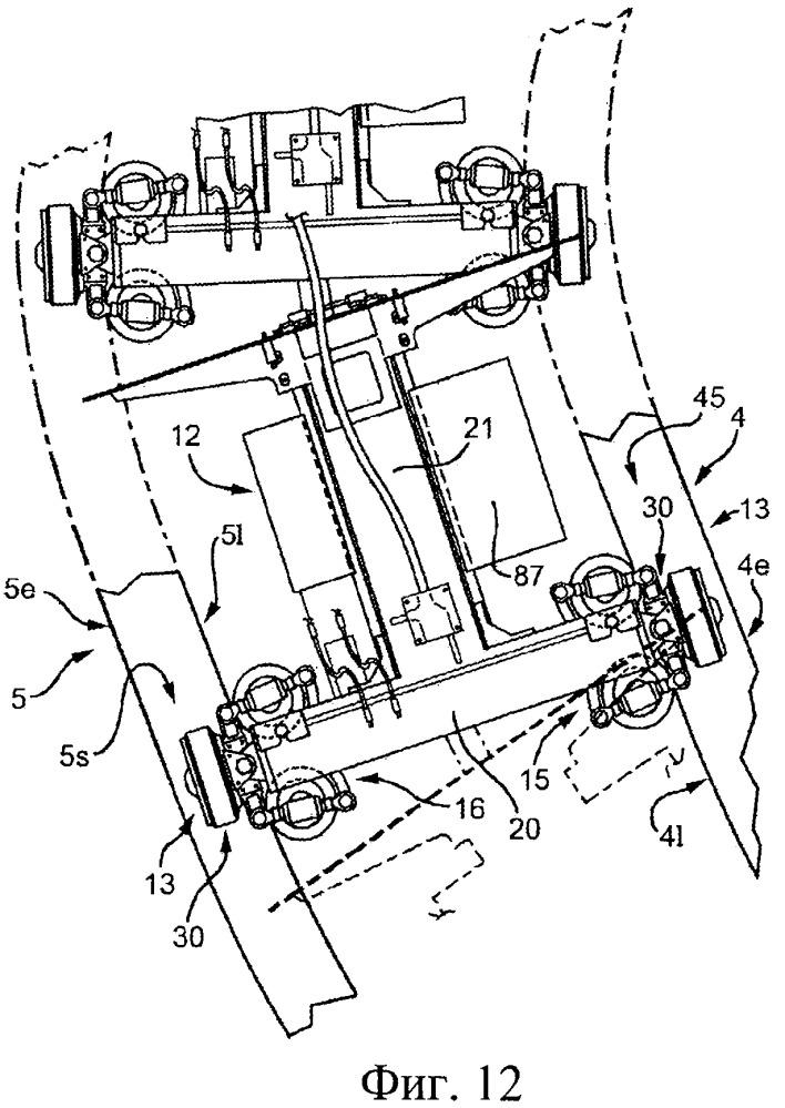 Приводная тележка для системы транспортировки и сортировки предметов