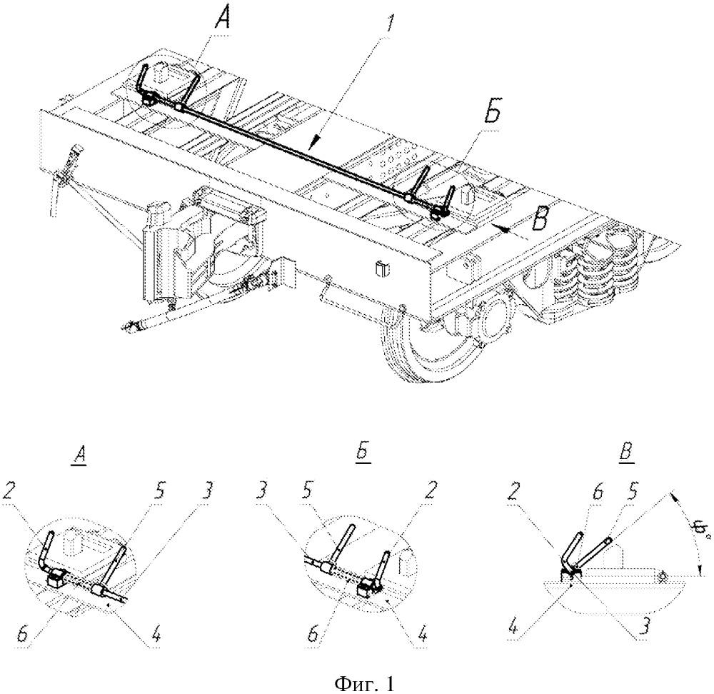 Способ автоматического крепления контейнеров от опрокидывания на раме вагона-платформы и устройство для его осуществления