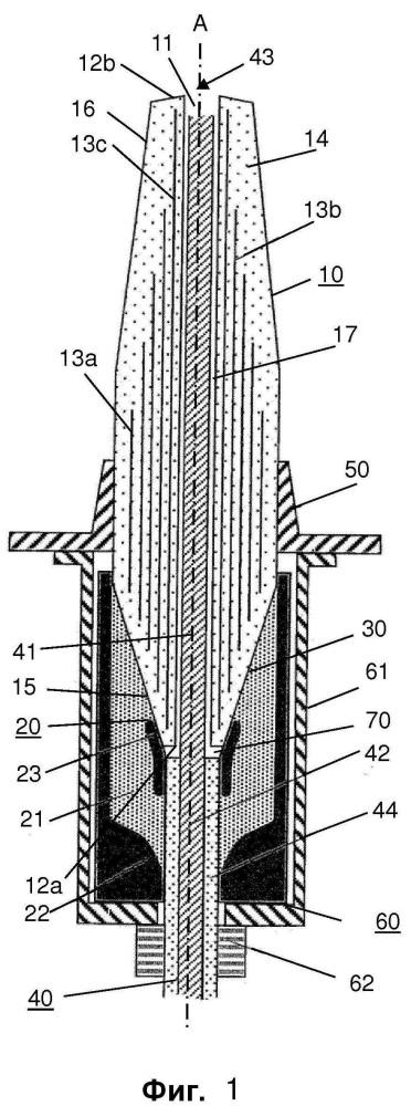 Кабельная арматура для соединения высоковольтного кабеля с высоковольтным компонентом