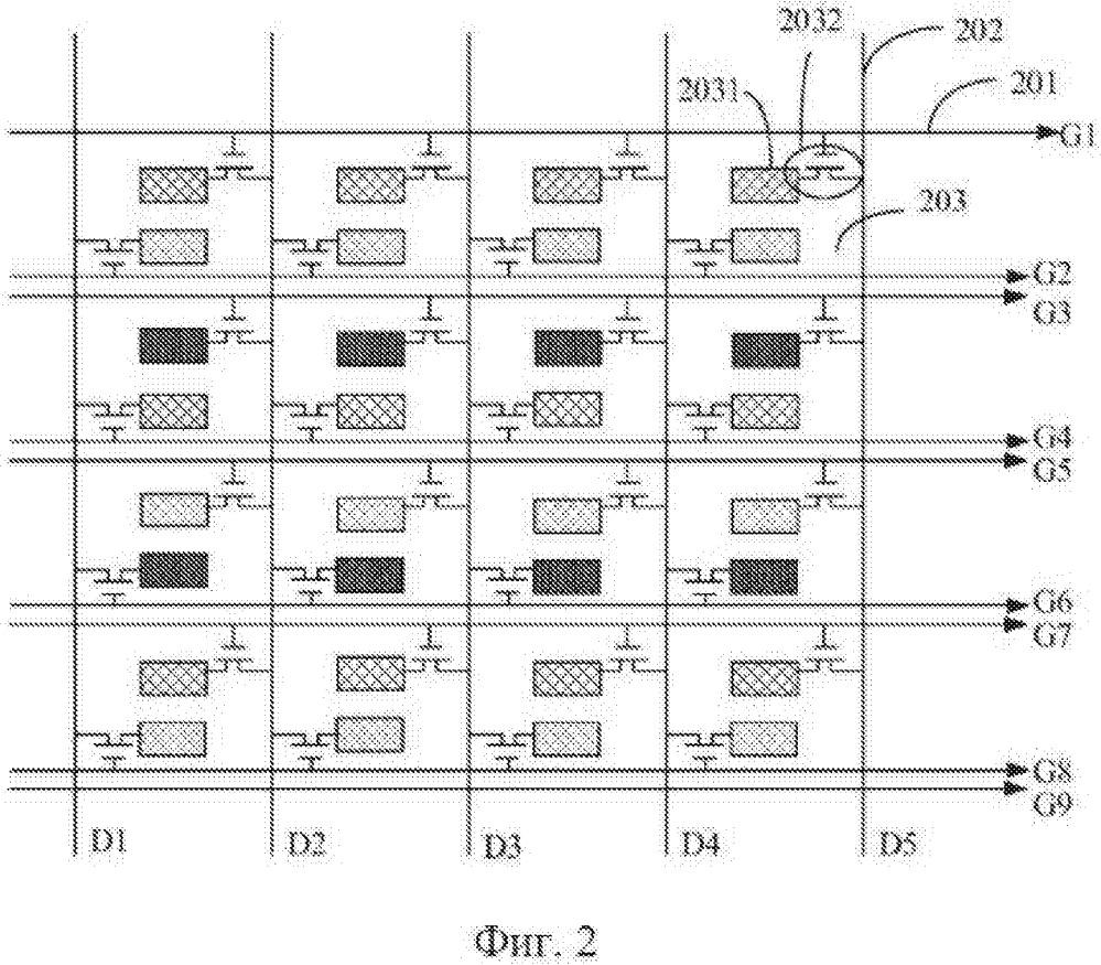Подложка матрицы и жидкокристаллическое дисплейное устройство